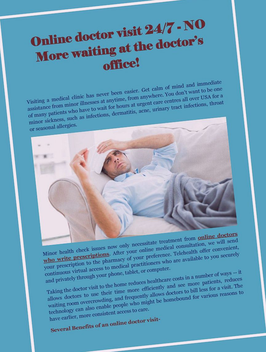Focus on resting instead of waiting at the clinic.